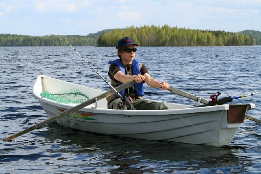 Trolling on a rowing boat is one of the most traditional forms of fishing.