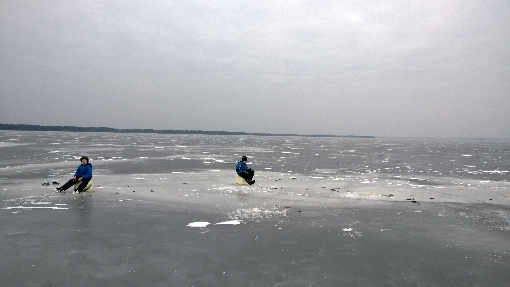 Ice fishing is popular fishing method on Lake Lappajärvi in winter and early spring.