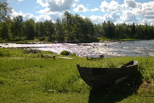 The Kynkäänkoski Rapids in River Livojoki, a tributary of River Iijoki.