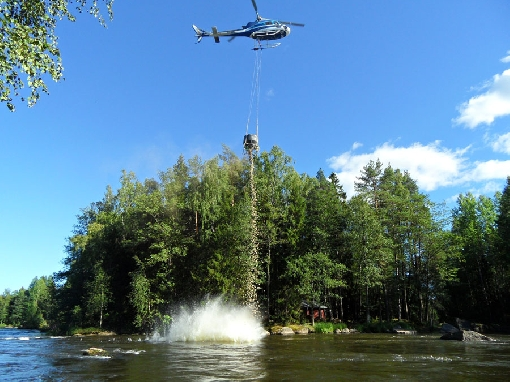 Restoration in River Kymijoki helps salmon and trout