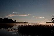 In autumn Jupiter shines over the fishing waters of Finnish Lake District. (Jari Matikainen)