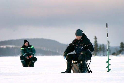 The ice-fishing season lasts almost six months.
