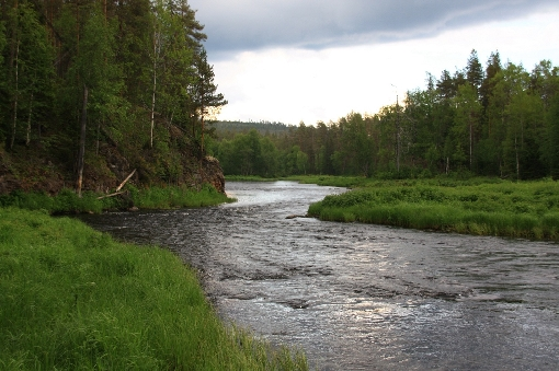 Landscape in the lower reaches of River Kuusinki.