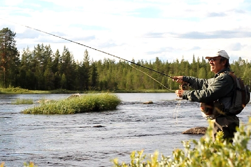 Hossa offers also river fishing spots. River Hossanjoki.