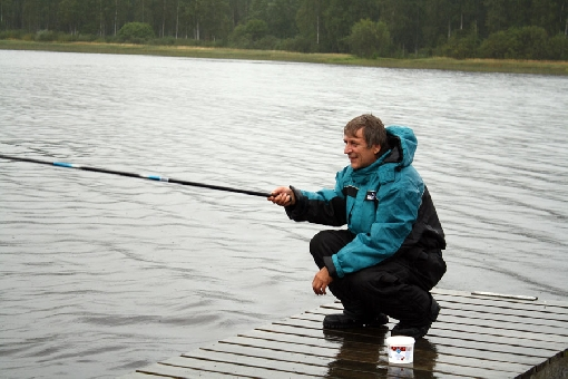 Roach, bream and perch are common species in Lake Ruovesi. Angling with hook and line is a good way to go after them.